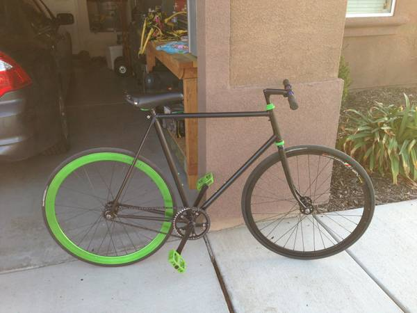 BlackGreen Fixie - $250 (SW Bakersfield)
