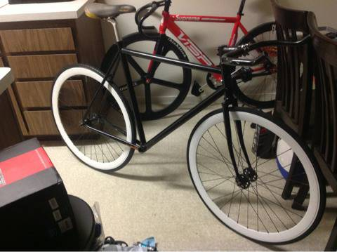 Visp Masi frame FSA crankset origin8 wheelset fixie fixed single speed road trac - $1 (Bakersfield )