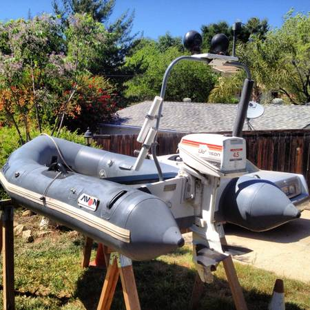 10 Avon dinghy with good running Johnson outboard motor - $1000 (Ojai)