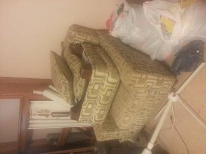 Ashley Furniture couch and loveseat with matching decor - $500 (ne Bakersfield)
