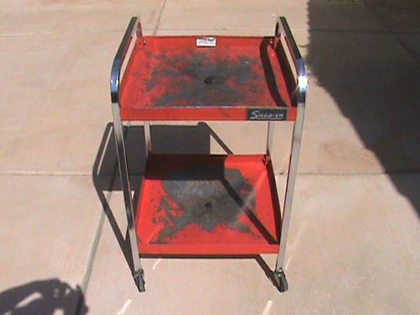 Snap On Tools Tool Cart Drain Rolls On Casters Vintage Good Condition - $175 (Bakersfield)