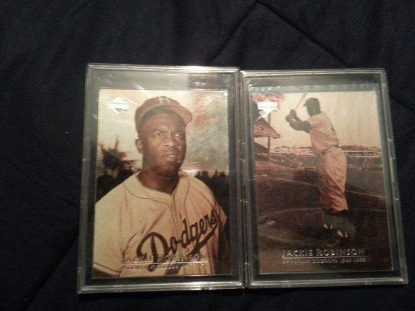 upper deck jackie robinson holographic baseball cards  - $80 (Bakersfield)