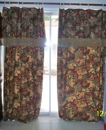 BEAUTIFUL DRAPES FROM MACYS PAID OVER $100 FOR EACH PANEL ASKING ONLY  - $30 (SW BAKERSFIELD)
