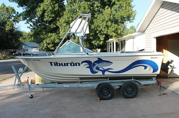 18 Boat with tower - 170 HP - $4700 (North Boise)