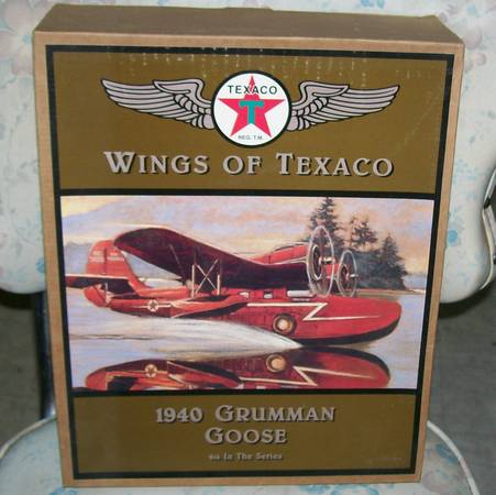 WINGS OF TEXACO 1940 GRUMMAN GOOSE BANK-IN BOX - $20 (CALDWELL)