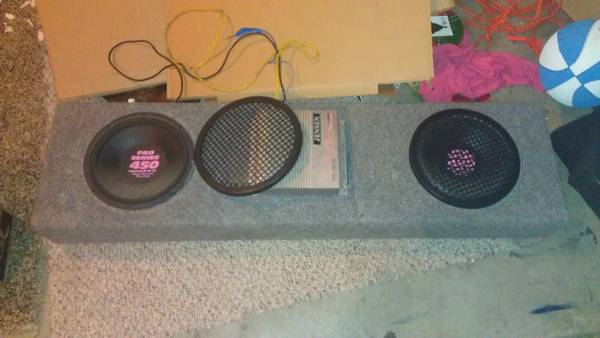 10 Subs, Truck Box  Amp all in one unit - $100 (Meridian)