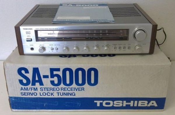 VINTAGE TOSHIBA SA-5000 Servo Locked Stereo Receiver (Silver Face) - $149 (Point of the Mountain, Utah)