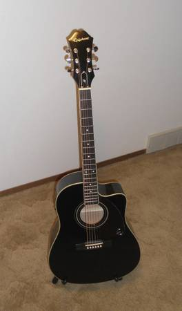 Epiphone Acoustic-Electric Guitar AJ-220SCE - $185 (Meridian)