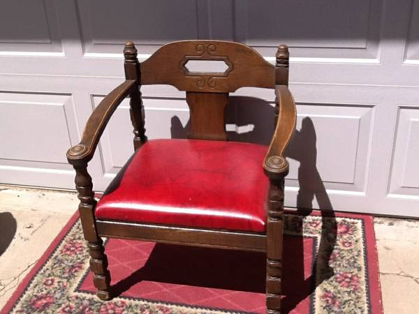 span classstarspan  Wood Captains chair wred seat - $35 (TimberlineDoney Park)