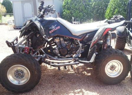 2 quads and trailer package deal, Polaris Outlaw 500 - YFZ 450  - $6500 (Verde Valley)