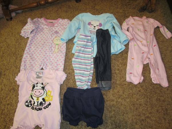 Lot of 6 to 12 month baby girl clothes - $10 (Flagstaff)
