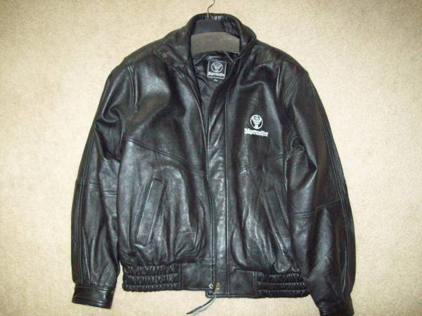 Jagermeister Blk Leather Jacket - $65 (Flagstaff)