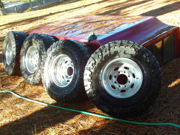 4 16X10 8 lug 170mm polished Weld rims - $350 (grass valley ca.)