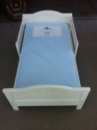 Pottery Barn Toddler Bed and mattress - $100