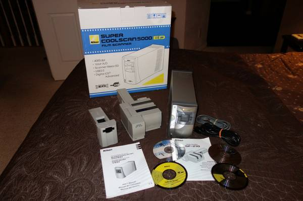 Nikon Coolscan 5000ED 35mm Film Scanner and SF-210 Loader - $2350 (Grass Valley)
