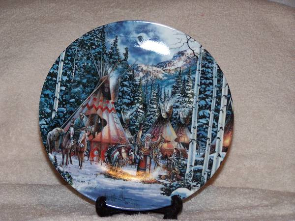 BRADFORD EXCHANGE COLLECTIBLE PLATES, NATIVE AMERICAN - $160 (Hanford)