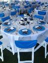 Wedding decor  blue  damask  bling  -  1  Fresno
