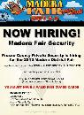 Now Hiring Security For Fresno and Madera Fair  Madera Fresno