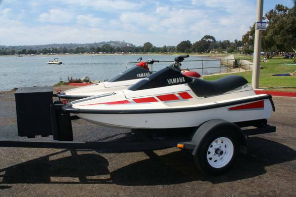 Pair of Yamaha Waverunners 2-seater Jet skis with Trailer  Extras - $3000 (San Diego)