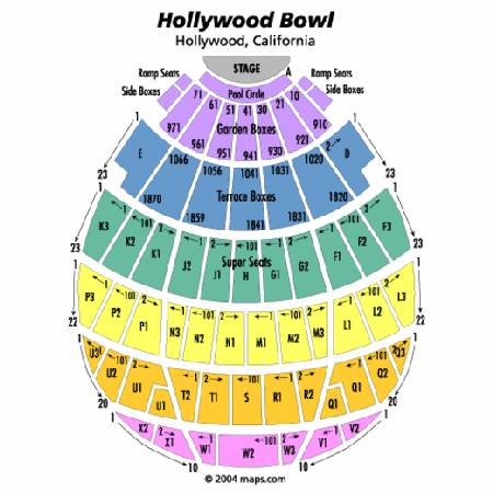 Spectacular 4 seat Garden Box at Hollywood Bowl - Aida - Sun. 811 - $125 (Studio City)