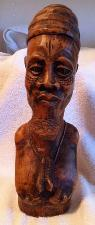 African Tribesman Wood Carving Circa 1960 s 13  Tall  Oceanside  CA