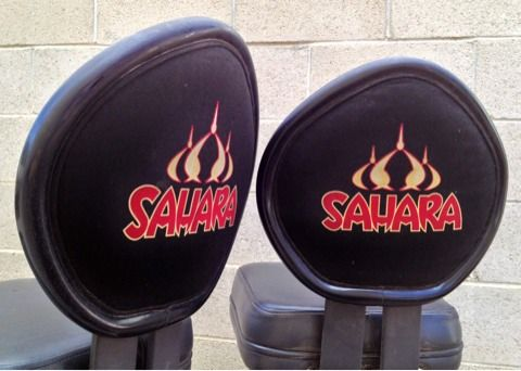 SET  PAIR of 2 Las vegas SAHARA Casino Slot Machine Chair ( s ) - $250 (Silverado Ranch 89123)