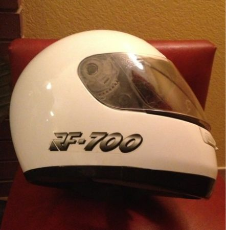 White SHOEI RF-700 ELITE SERIES Motorcycle Dirt Bike Helmet sz XL DISCONTINUED  - $80 (Silverado Ranch)
