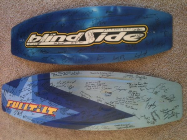 GREATEST WAKEBOARD STARS - 2 COLLECTIBLE AUTOGRAPHED WAKEBOARDS - $900 (SF)