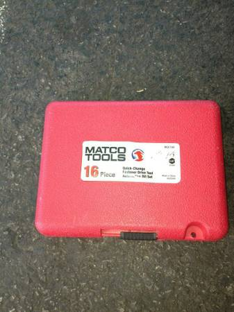 Matco tools 16 quick change bit set mqc16b - $50 (North Las Vegas )