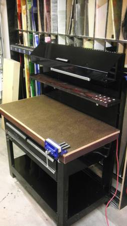 Awesome Kobalt WoolboxWorkbench Unit with Light, Pegboard and Vise - $175 (South Pointe)
