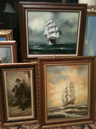 253 SIGNED Framed OIL PAINTINGS COLLECTION SIGNED PRINTS (las vegas)