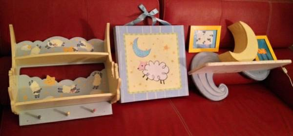Baby  Kids Room Decor 6 pc. LOT Shelves Artwork  L - $60 (Silverado Ranch South LV 215Windmill)