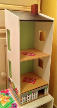 Custom Wood 3 pc Kids Play Activity Center Shelving Unit DOLL HOUSE  CHAIR - $60 (Silverado Ranch 89123)