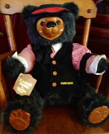 Antique Vintage RAMSDELL Childs Rocking Chair AND Robert RAIKES Bear - $65 (Silverado Ranch South LV)