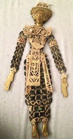 UNIQUE Indonesian COIN DOLL woven together out of ANTIQUE Chinese Currency (South Las Vegas Silverado Ranch 89123)