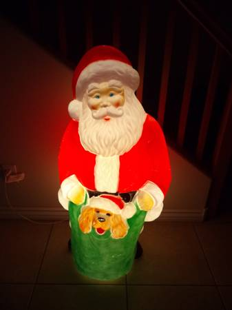44 inches Tall Lighted Plastic Santa Claus- Vintage, Blow Mold-Works - $20 (SW Las Vegas)