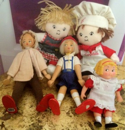 LOT of 5 collectible Small Dolls Cbells Soup  Vintage Wooden Poland - $30 (Silverado Ranch)