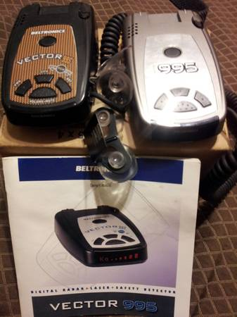2 BELTRONICS VECTOR 995 RADARS. - $200 (SOUTHPOINT CASINO AREA.)