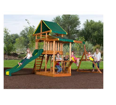 BACKYARD DISCOVERY PATHFINDER II CEDAR SWING SET  BRAND NEW BOX - $250 (BLUE DIAMOND)