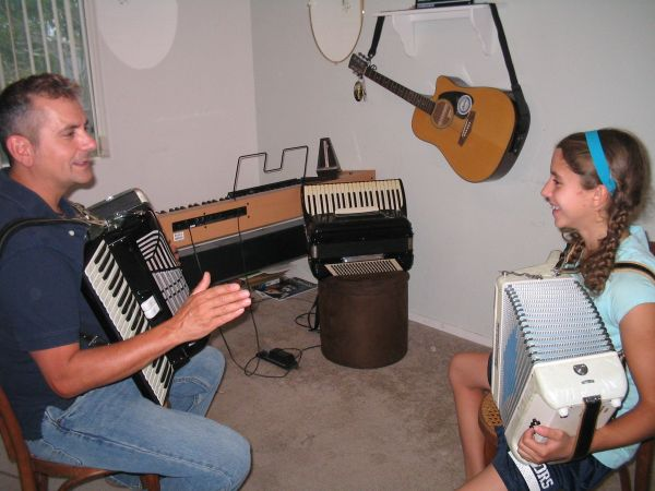 Accordion Lessons At Our Las Vegas Studio or by Skype (Central)