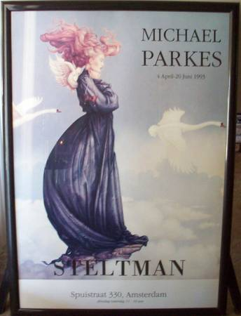 Framed Artwork For Sale Michael Parkes - Romanello - Jodi Jensen  (Turlock, CA)
