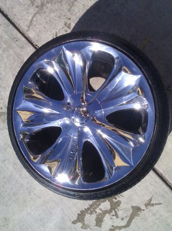 20inch rims with tires - $500 ( merced)