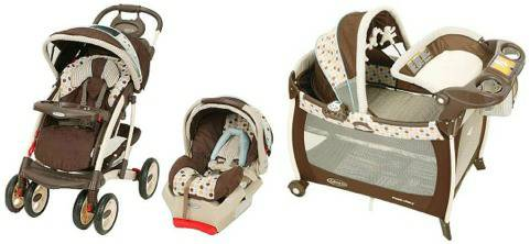 Wanted Graco Deco Quattro Tour Deluxe Travel System  matching set (Merced)