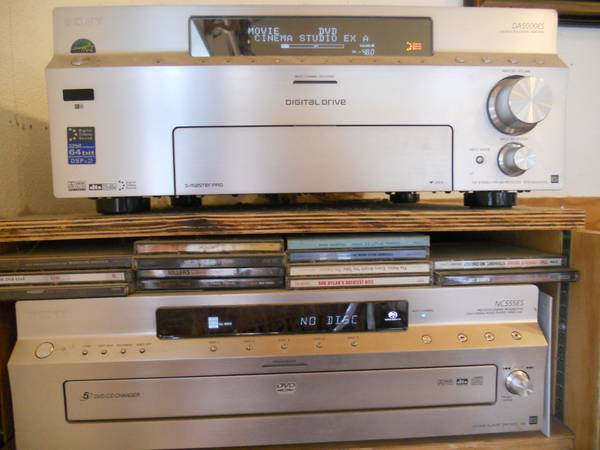 Home Theatre Amplifier Receiver (AMP), DVD changer, remotes  - $250 (Mariposa)