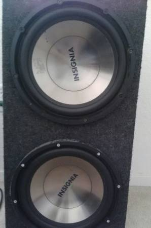 (2) 12in. INSIGNIA Subwoofer w box - $130 (Merced, CA)