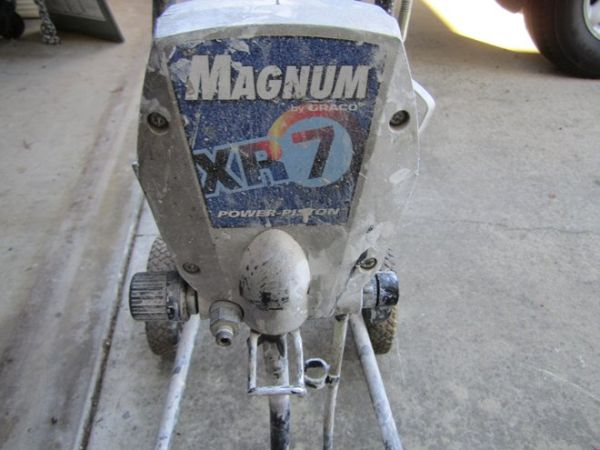 This is for a Magnum XR7 paint sprayer. Works great. Paint a whole room in no time.  Comes with spray nozzle and hose.