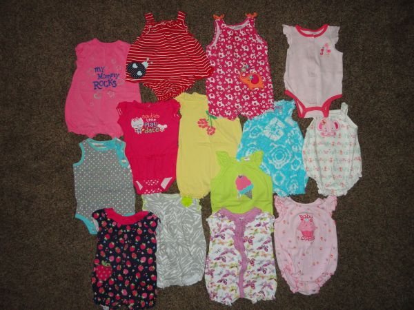 SpringSummer 6-12 month Baby Girl Clothes Lot - $65 (Turlock)