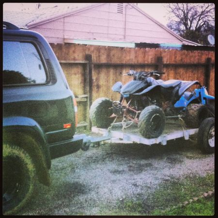 Trx450r with trailer  - $3900 (Gustine)