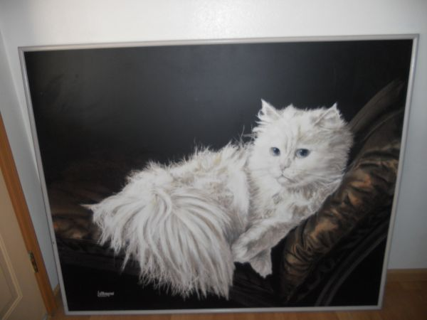 persian cat oil painting by letterman - $75 (kingman)