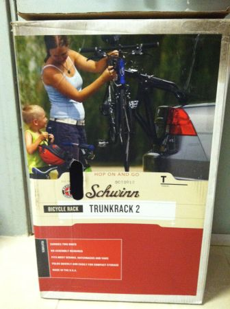 New Schwinn Trunkrack 2 Trunk MOUNTED BIKE Rack Fold Design Easy Set U - $50 (WESTMINSTER. (OC))